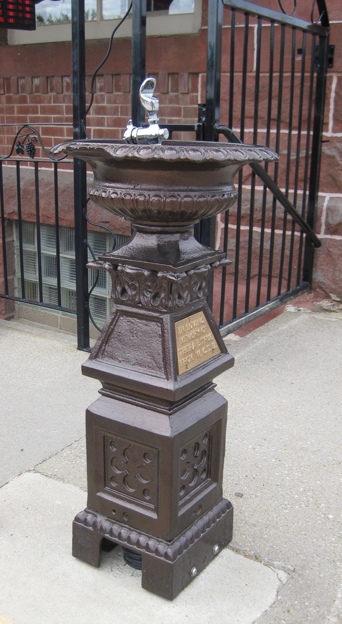WCTU fountain
