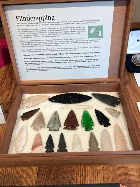 Flintknapping display added to the collection