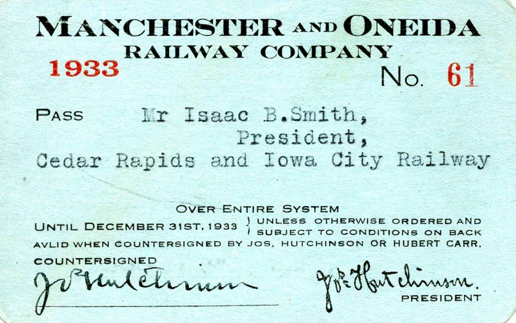 Manchester & Oneida Railway